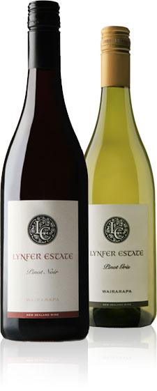 Bottles of Lynfer Estate Wine